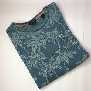 Men's Scotch and soda Palm tree shirt Sz. M